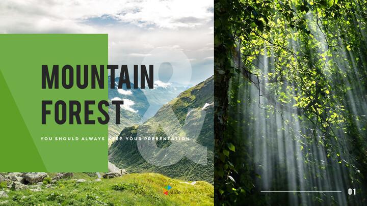 산과 숲 프레젠테이션용 PowerPoint 템플릿_01