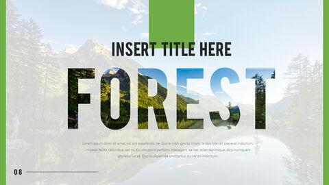 산과 숲 프레젠테이션용 PowerPoint 템플릿_04