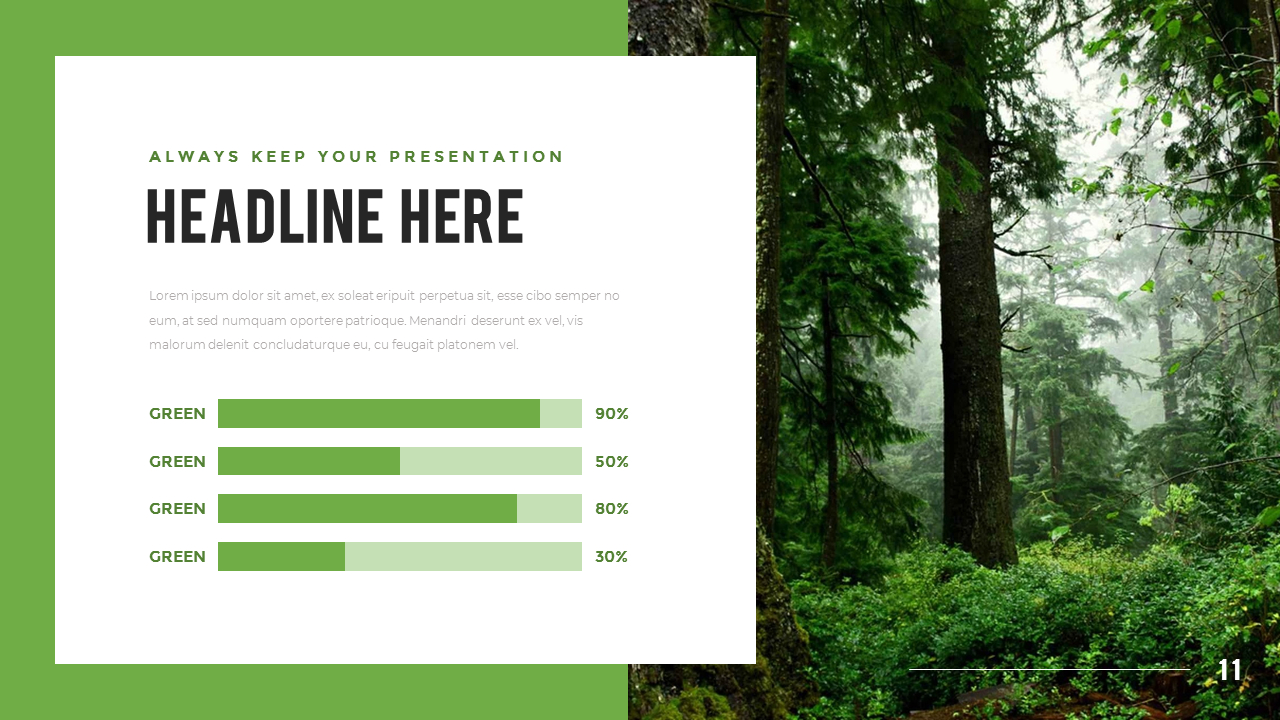 Mountain Forest Powerpoint Templates For Presentation