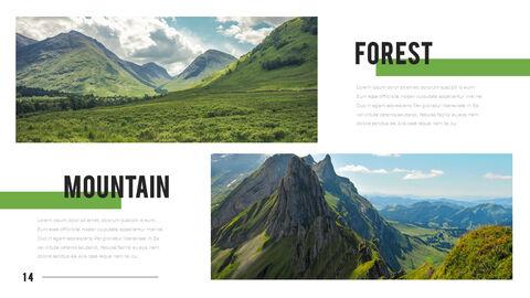 산과 숲 프레젠테이션용 PowerPoint 템플릿_14