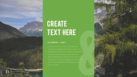 산과 숲 프레젠테이션용 PowerPoint 템플릿_21