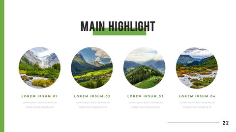 산과 숲 프레젠테이션용 PowerPoint 템플릿_22