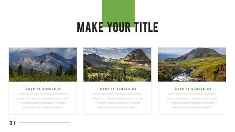 산과 숲 프레젠테이션용 PowerPoint 템플릿_27