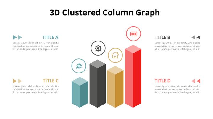 Simple Square 3D Bar Chart Diagram_01
