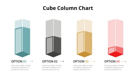 Simple Square 3D Bar Chart Diagram_05