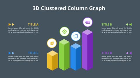 Simple Square 3D Bar Chart Diagram_06