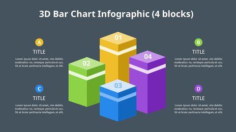 Simple Square 3D Bar Chart Diagram_07