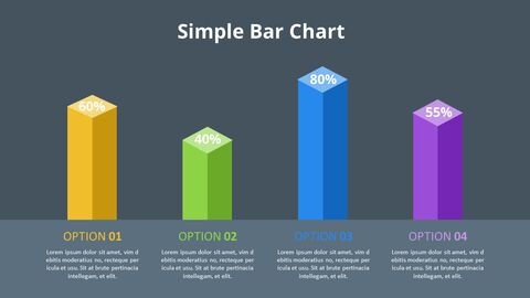 Simple Square 3D Bar Chart Diagram_08