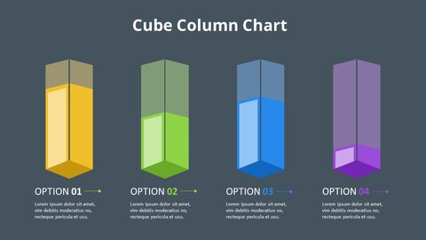 Simple Square 3D Bar Chart Diagram_10