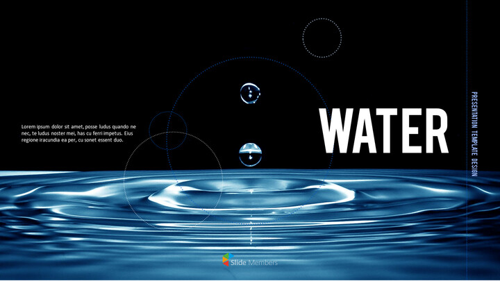 water Simple PowerPoint Template Design_01