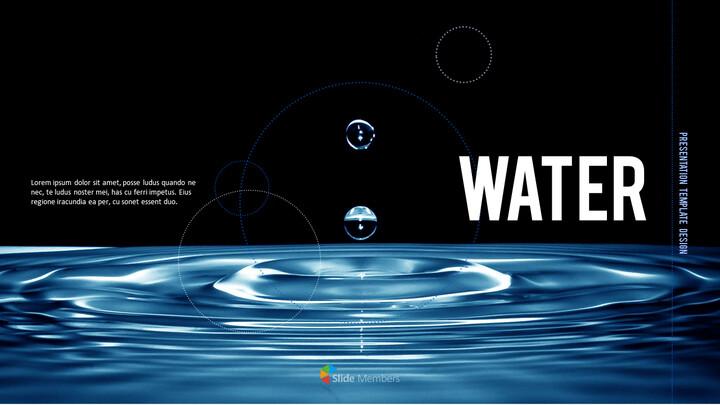물 심플한 파워포인트 템플릿 디자인_01