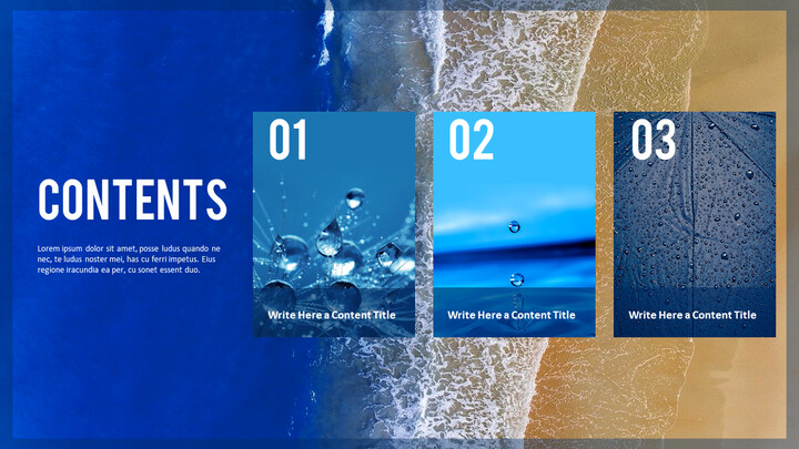 Water Simple PowerPoint Template Design_02