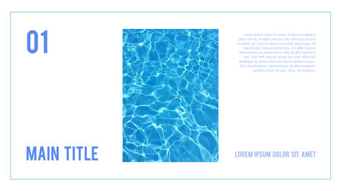 water Simple PowerPoint Template Design_03