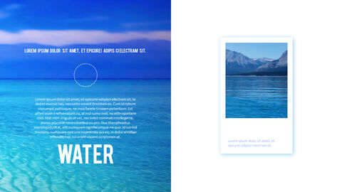 Water Simple PowerPoint Template Design_06