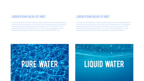 Water Simple PowerPoint Template Design_07