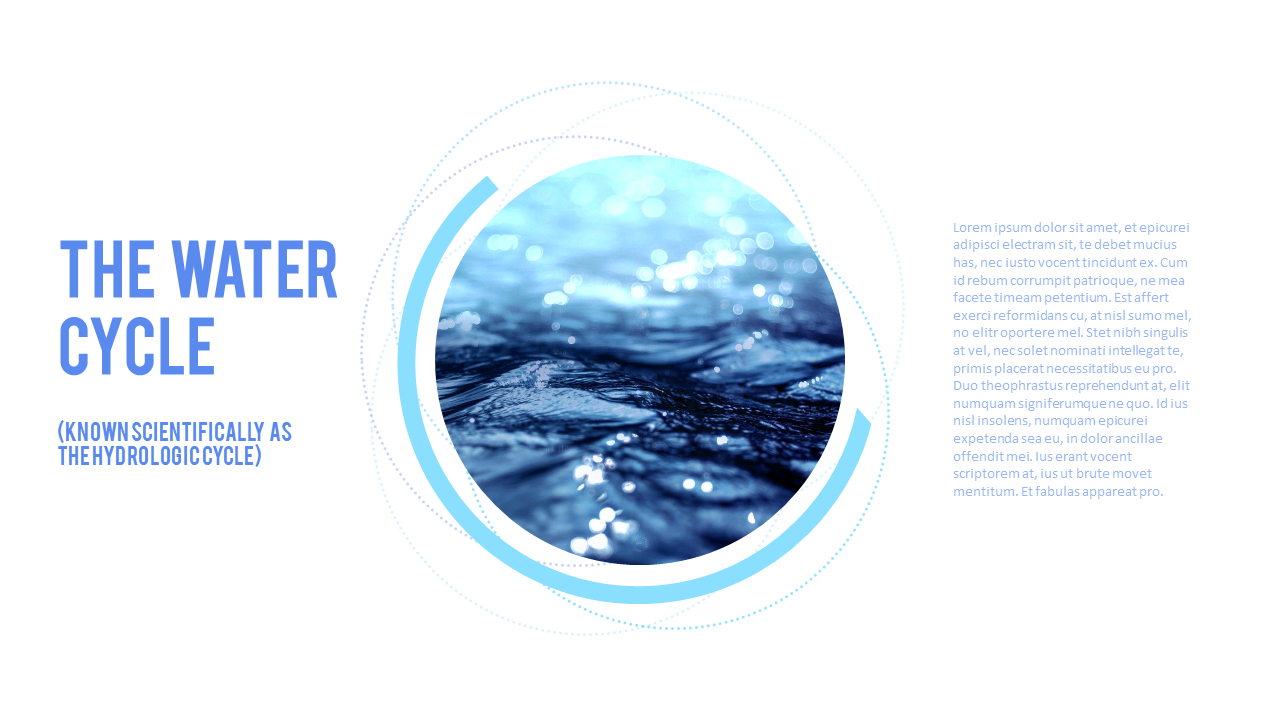 Water Simple Powerpoint Template Design