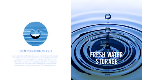 Water Simple PowerPoint Template Design_12