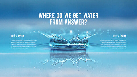 Water Simple PowerPoint Template Design_27