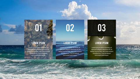 Water Simple PowerPoint Template Design_28