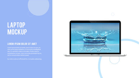 Water Simple PowerPoint Template Design_39