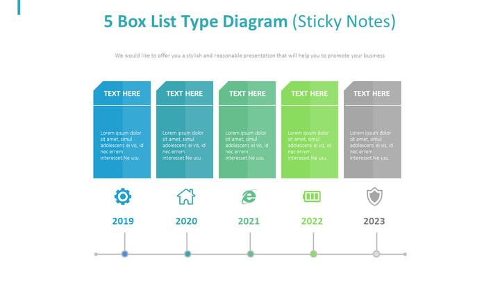 5 박스리스트 타입 다이어그램 (Sticky Notes)_02