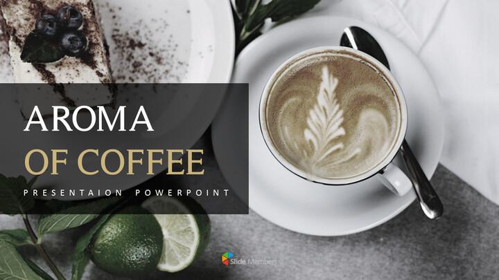 커피의 향기 파워포인트 템플릿_01