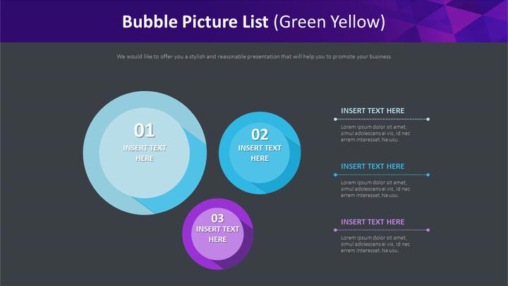 버블 <span class=\'highlight\'>그림</span> 목록 다이어그램 (녹색 노란색)_02