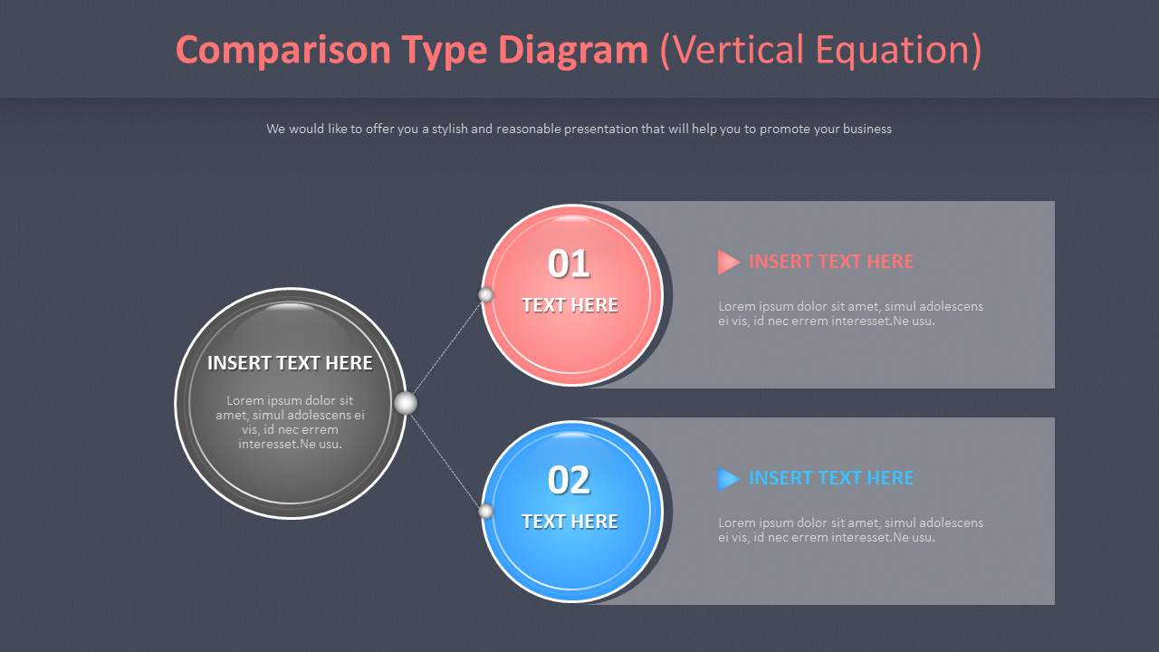 Comparison Type Diagram Vertical Equation