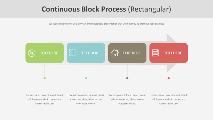 Continuous Block Process Diagram (Rectangular)Slide Members