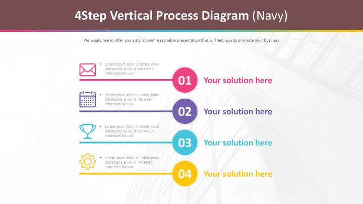 4 단계 수직 프로세스 다이어그램 (Navy)_02