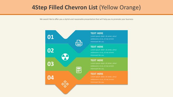 4 단계 쉐브론 목록 다이어그램 (옐로 오렌지)_01