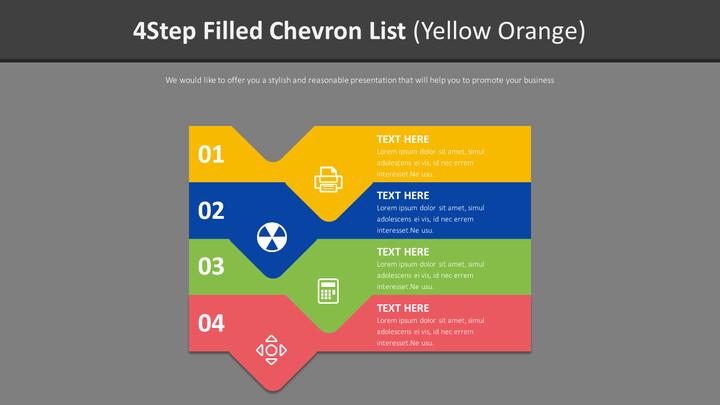 4 단계 쉐브론 목록 다이어그램 (옐로 오렌지)_02