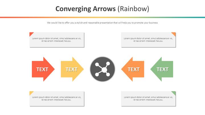 Converging Arrows Diagram (Rainbow)_01