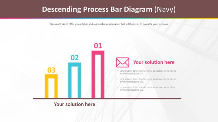 Descending Process Bar Diagram (Navy)_02