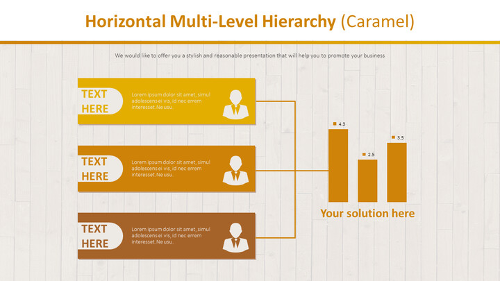 Horizontal Multi-Level Hierarchy Diagram (Caramel)_01