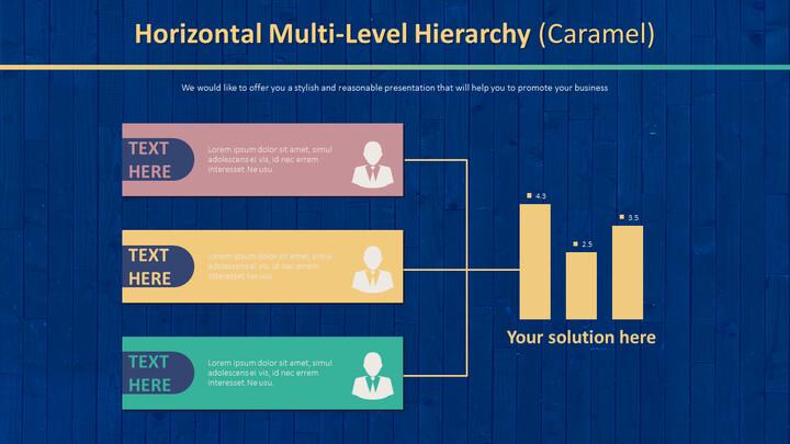 Horizontal Multi-Level Hierarchy Diagram (Caramel)_02