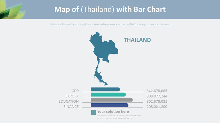 Map of (Thailand) with Bar Chart Diagram_01