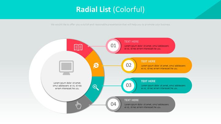 Radial List Diagram (<span class=\'highlight\'>Colorful</span>)_01
