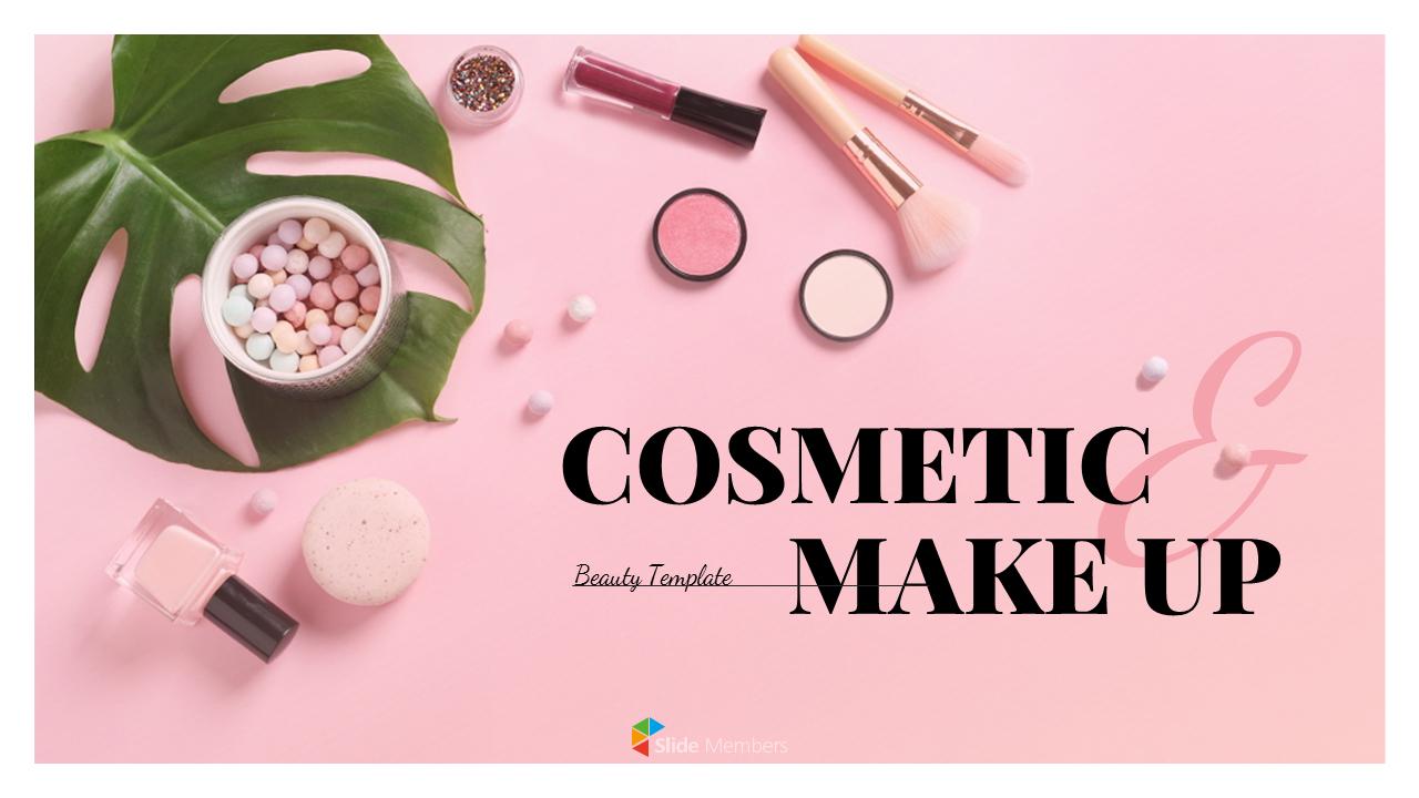 Cosmetic Makeup Powerpoint Templates Design