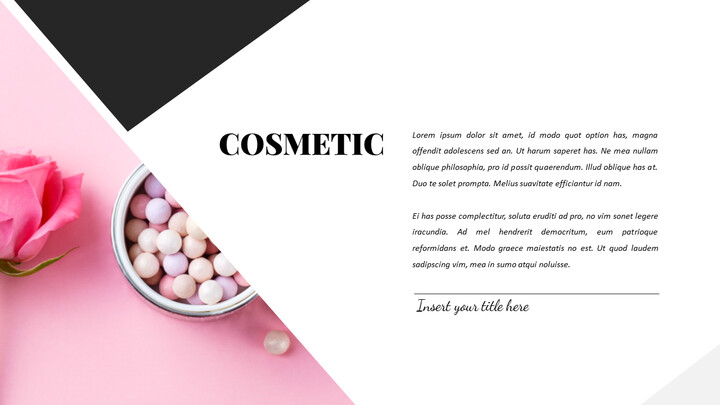 Cosmetic & Makeup PowerPoint Templates Design_02