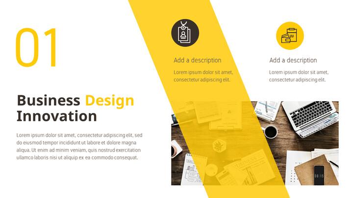 비즈니스 디자인 이노베이션 프레젠테이션용 PowerPoint 템플릿_02