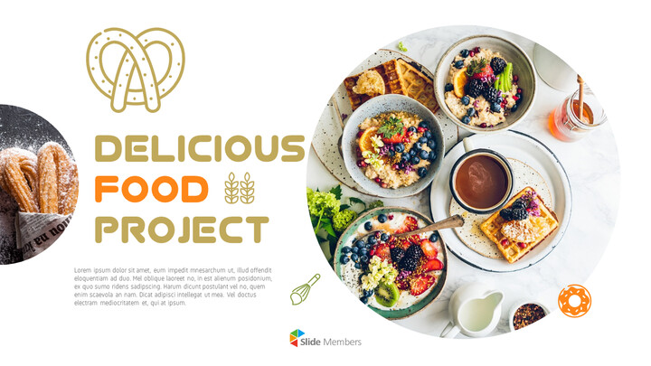 Delicious food project PowerPoint Templates_01