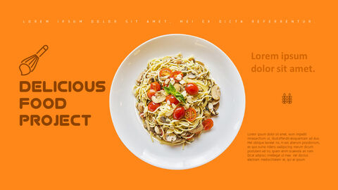 Delicious food project PowerPoint Templates_02