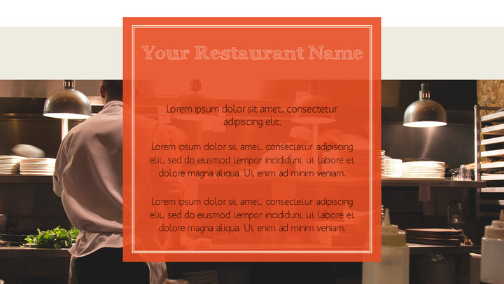 훌륭한 요리(퀴진) PowerPoint 프레젠테이션 템플릿_02