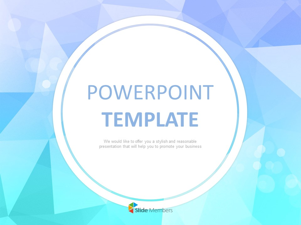 Sea Like Twinkle Colored Triangle With White Circle Outline Free Ppt Template