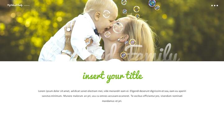 사랑하는 가족 테마 프레젠테이션용 PowerPoint 템플릿_02