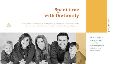 가족 이야기 PowerPoint 템플릿 디자인_19