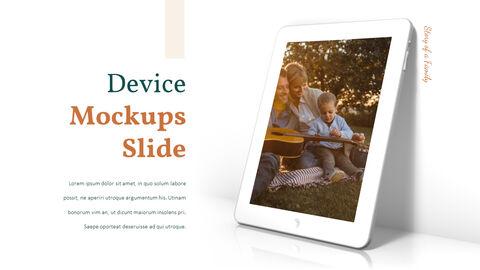 가족 이야기 PowerPoint 템플릿 디자인_22