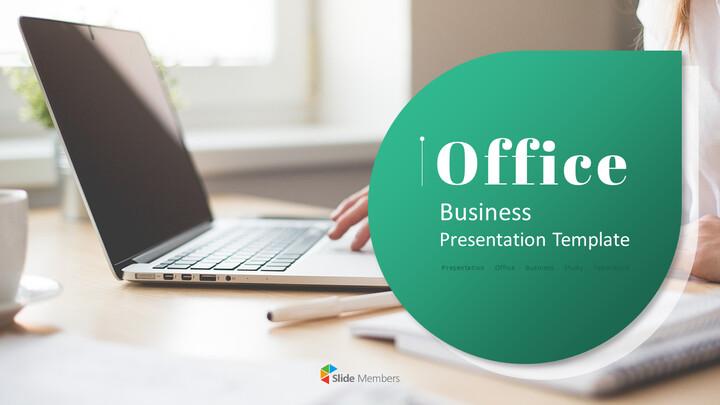 사무실 사업 프레젠테이션용 PowerPoint 템플릿_01