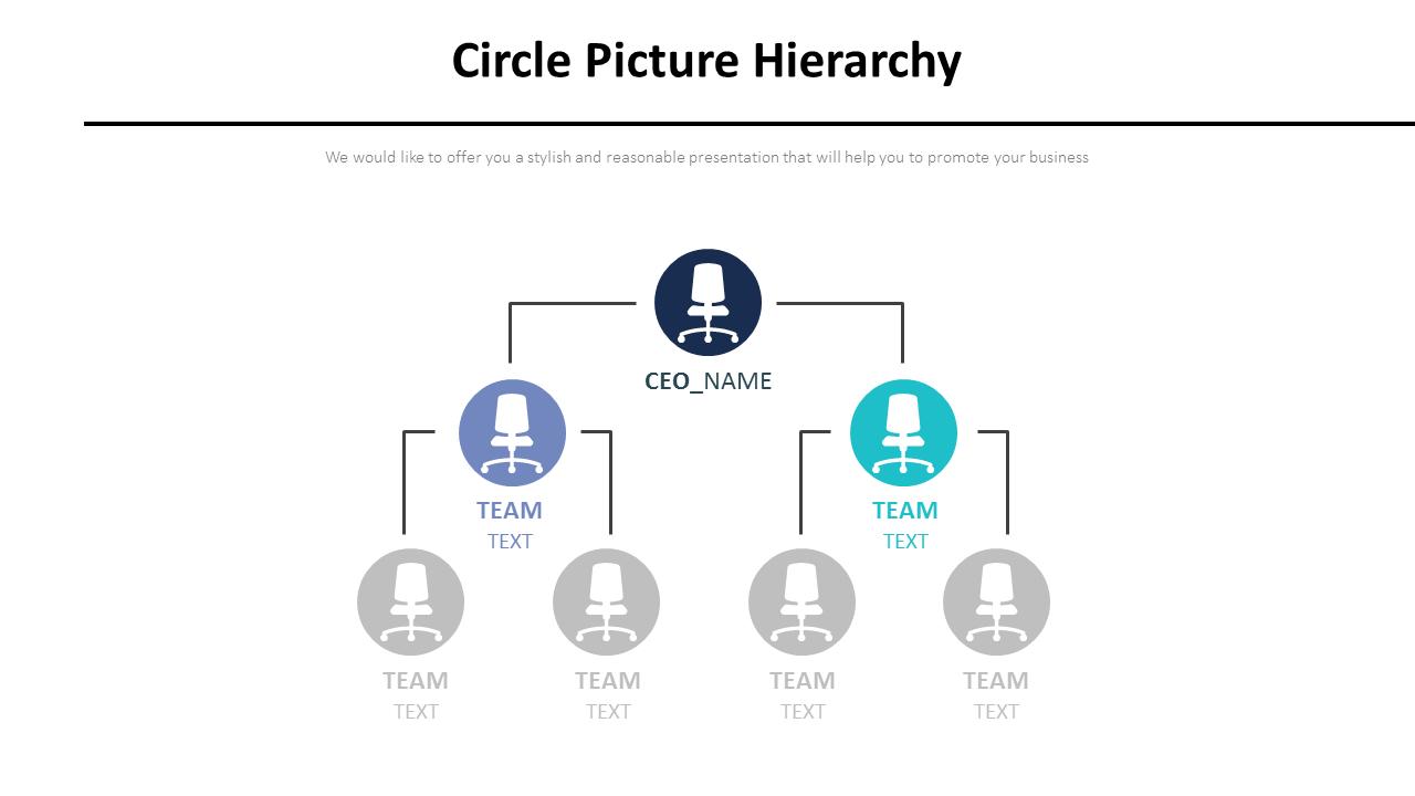Circle Picture Hierarchy Diagram
